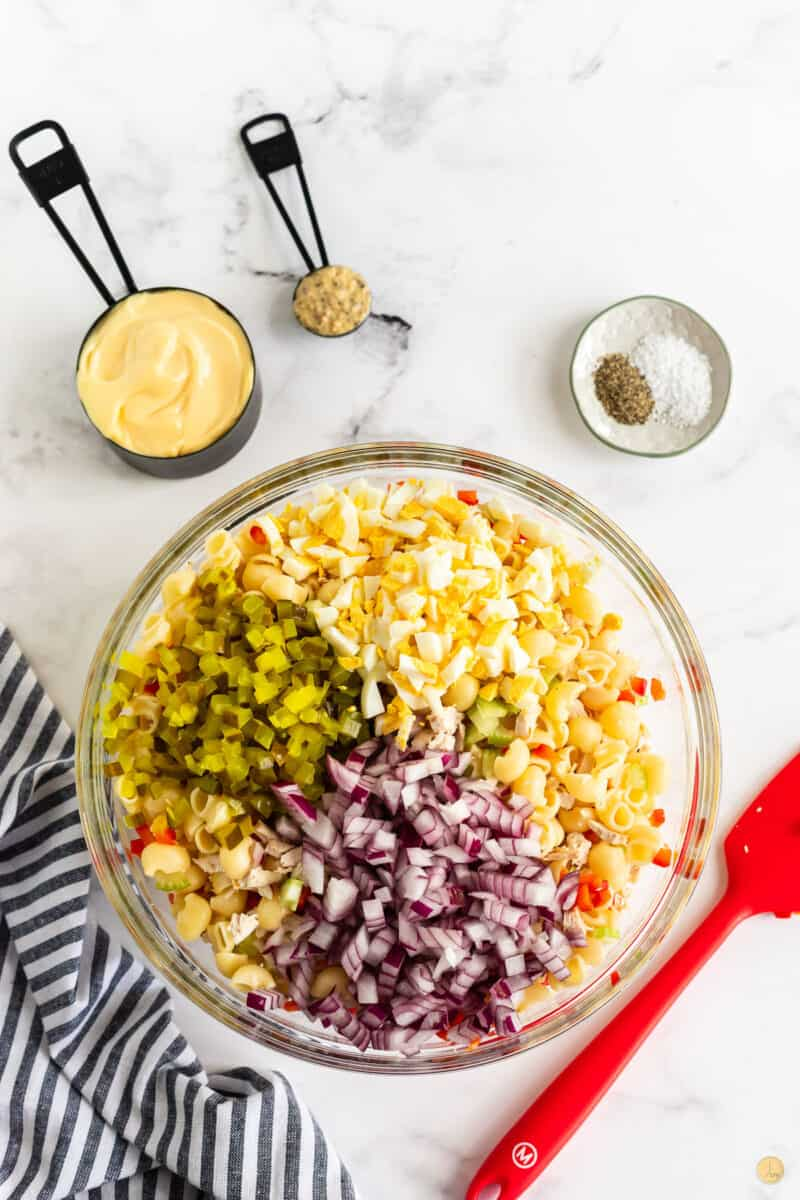 onions and pickles in a bowl