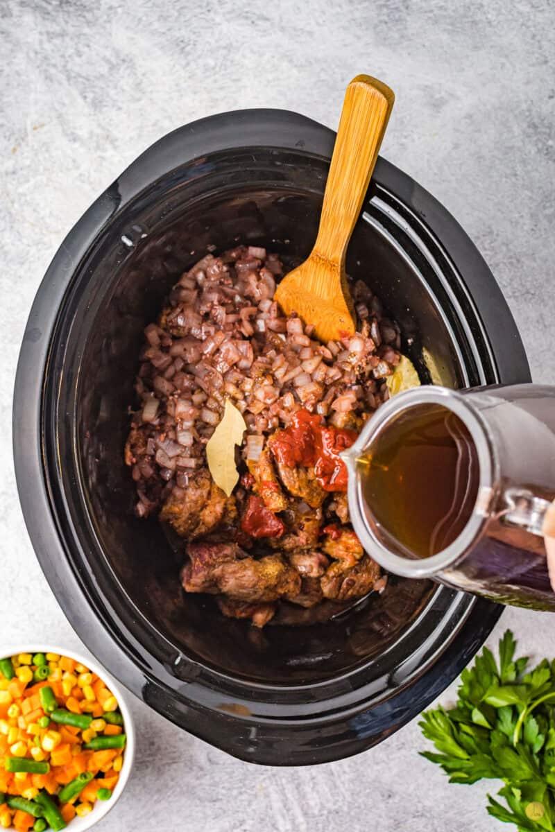 beef in a crock pot