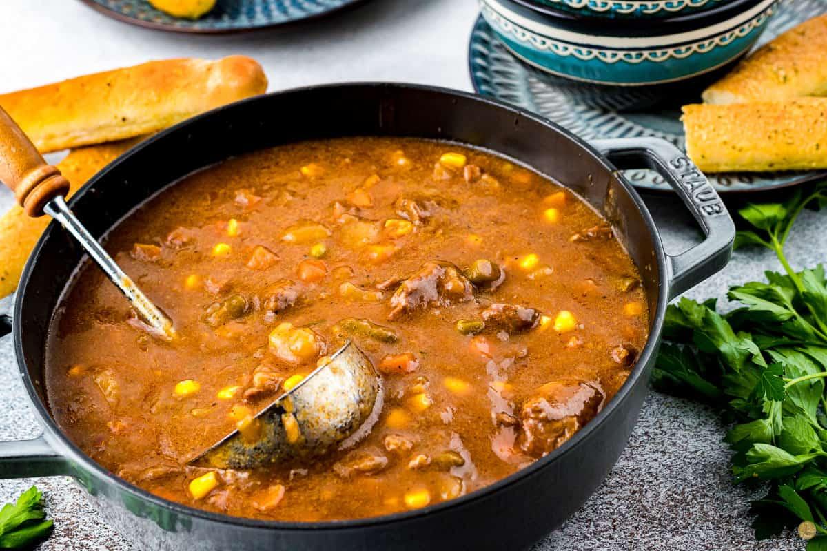 pot of beef stew