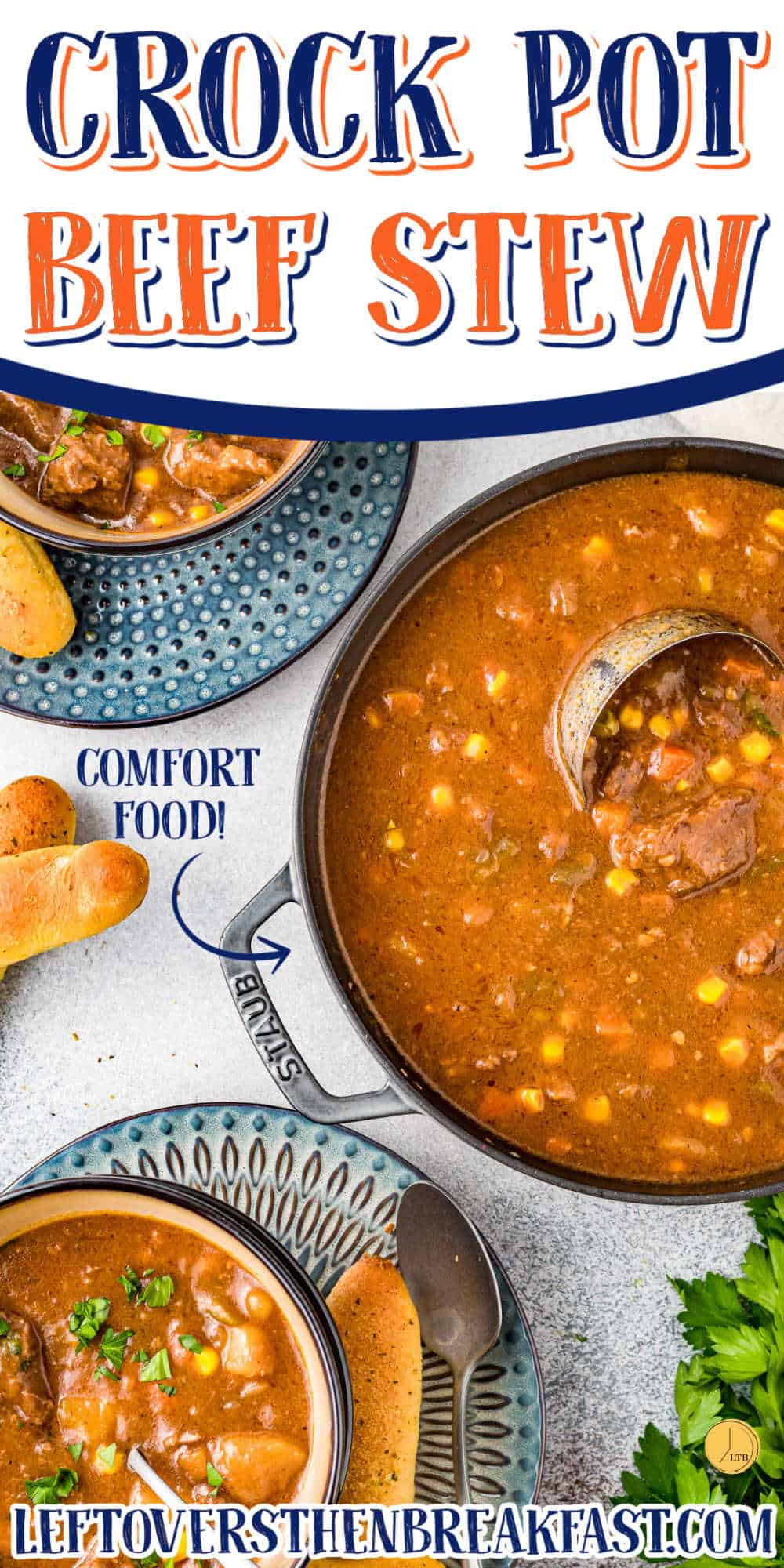"""pot of soup with text """"crock pot beef stew"""""""