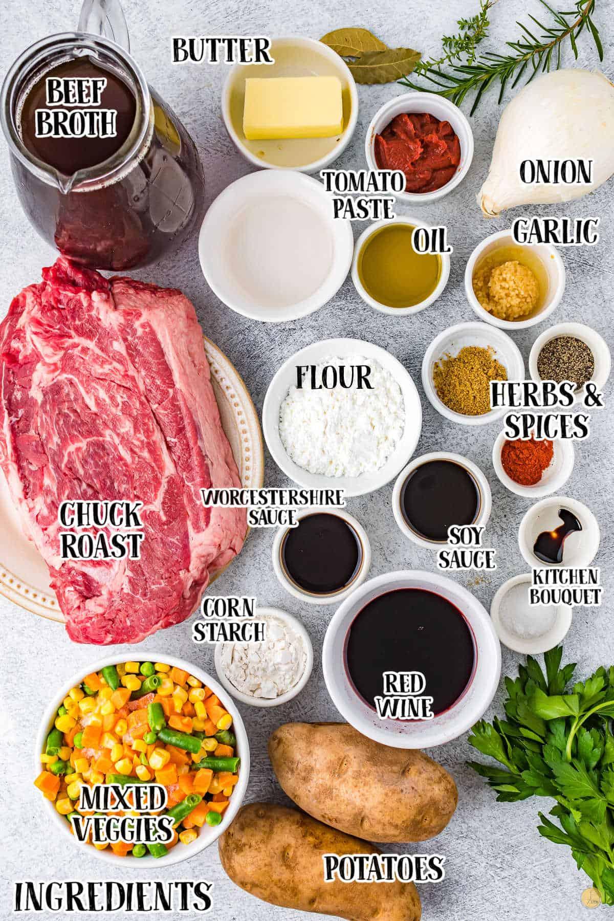 ingredients for crock pot beef stew