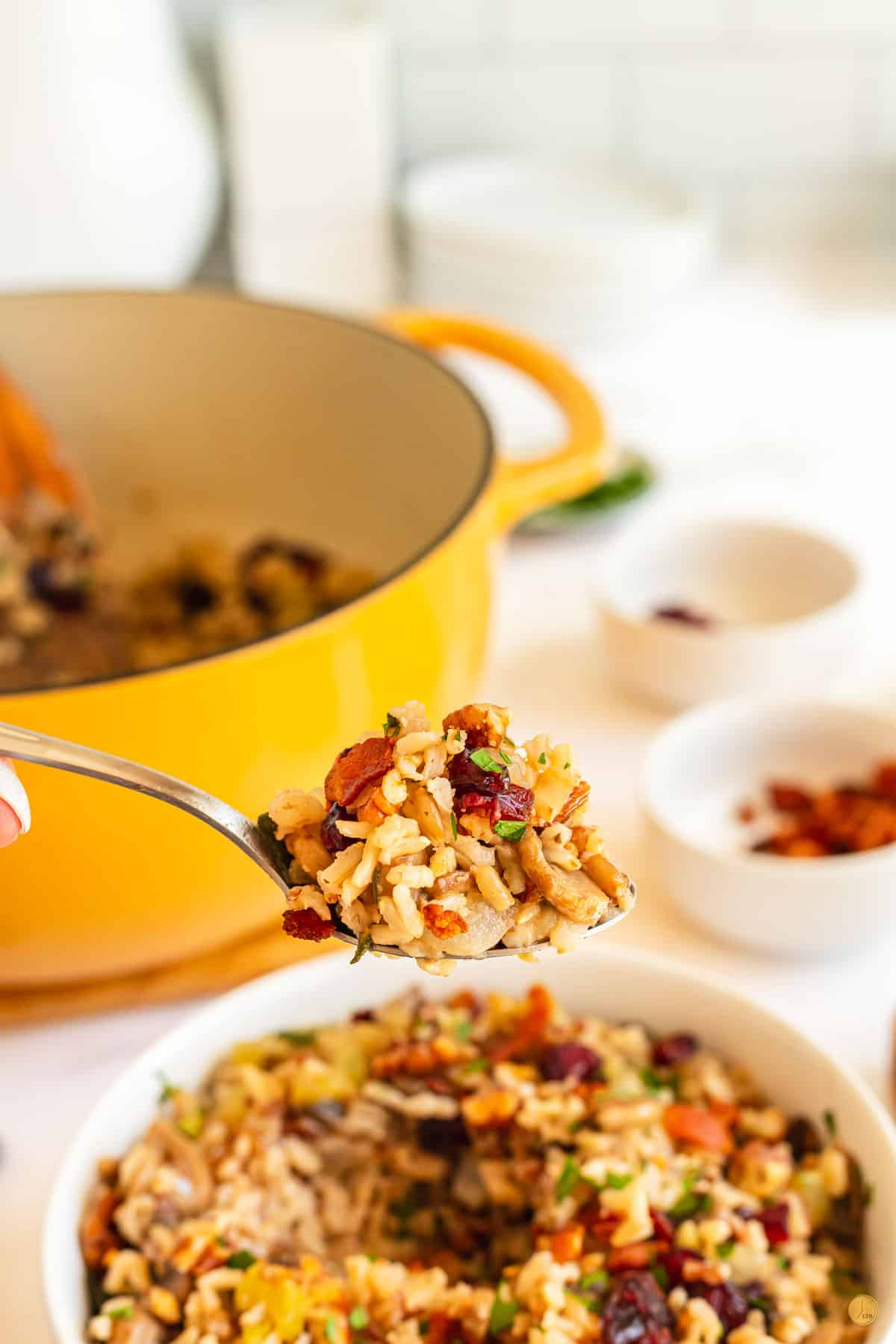 fork of wild rice stuffing