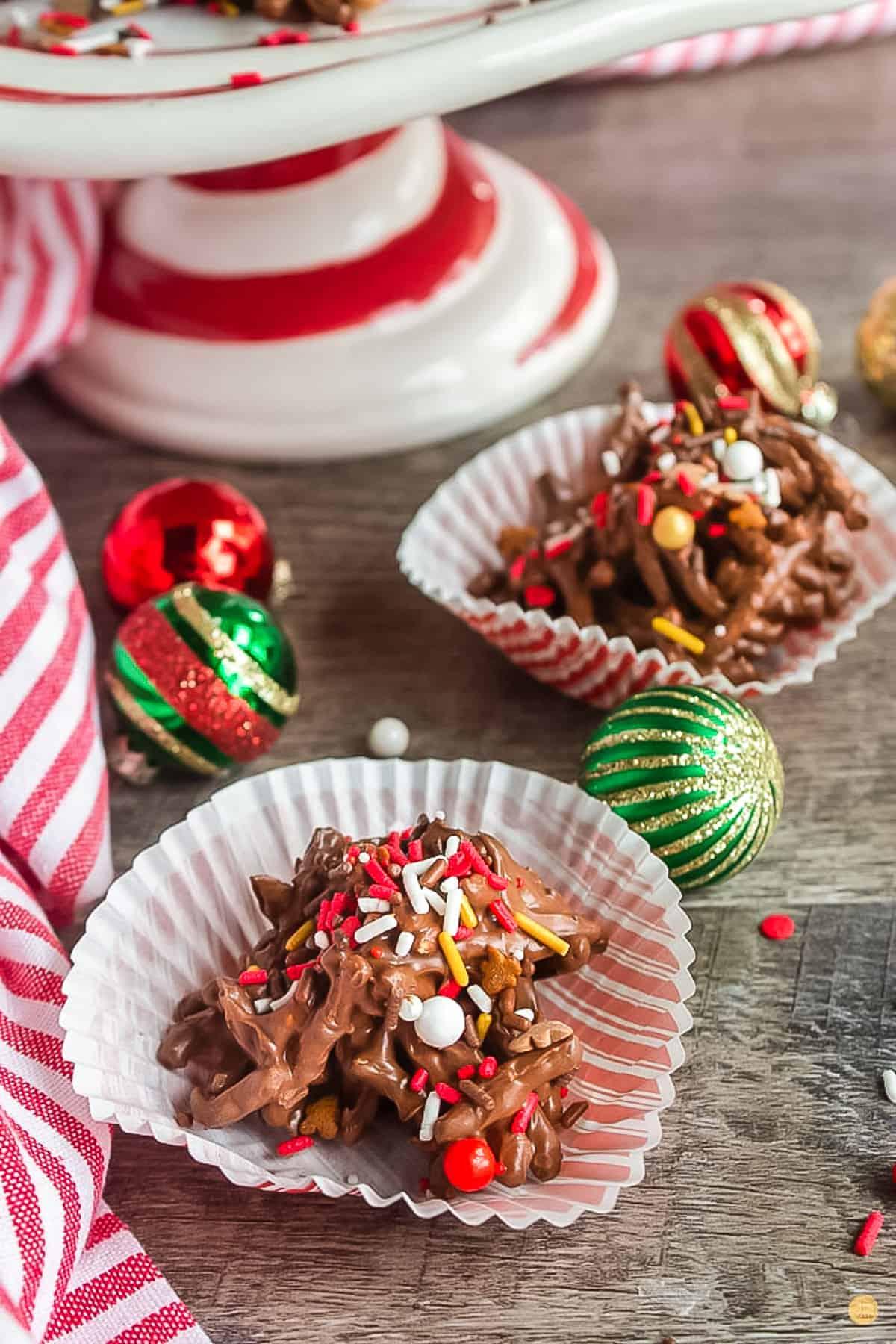 haystack cookies in cupcake liners