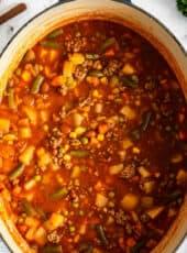 SUPER EASY HOBO STEW {Versatile Soup!}
