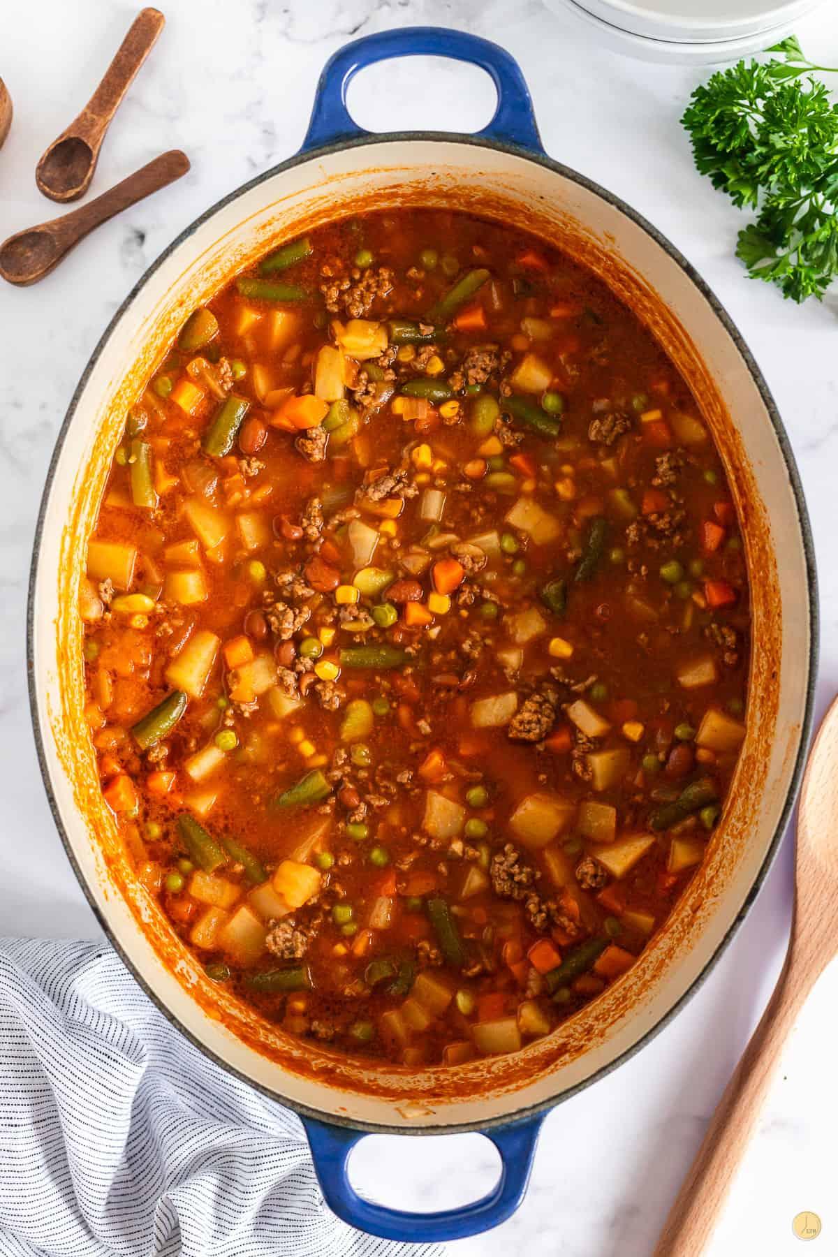 hobo soup in a pot