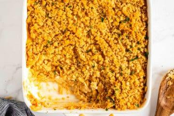dish of chicken casserole